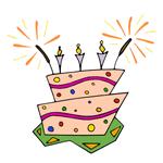 Тортик на день рождение - три года