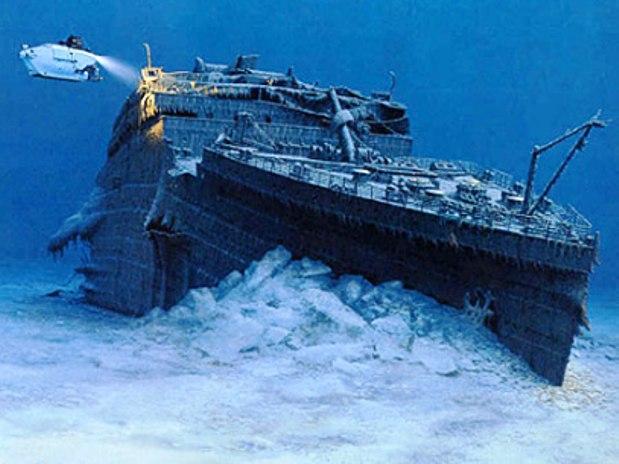 Титаник на дне морском