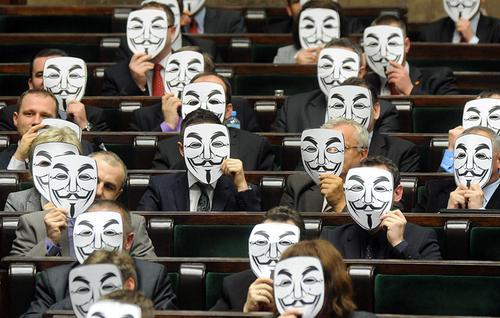 Польская оппозиция протистует протестует против ACTA
