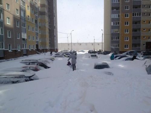 Киев засыпало снегом в марте...