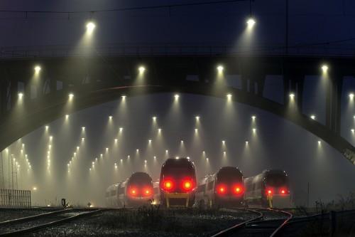 Ночь. Поезд. Депо