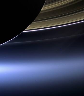 Снимок спутником Сатурна и его колец