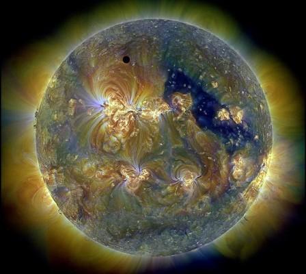 Венера в ультрафиолете Солнца - снимок от 2012 года